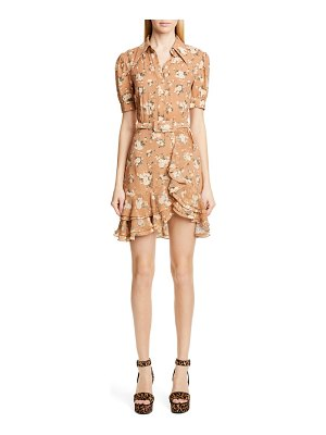 Michael Kors michael kors french floral print tiered ruffle shirtdress