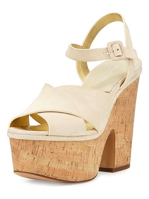 Michael Kors Hilary Suede Platform Sandals