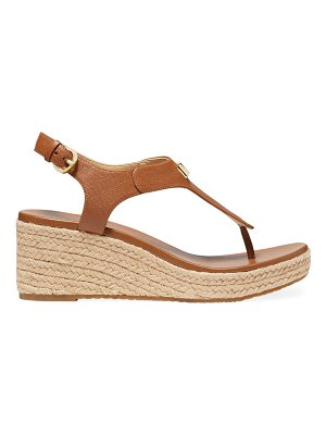 Michael Kors laney leather espadrille thong sandals