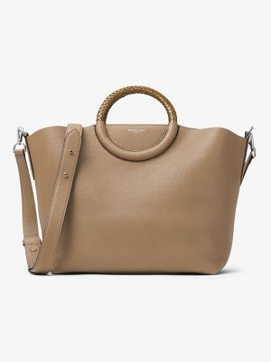 Michael Kors Collection Skorpios Pebbled Calf Leather Market Bag