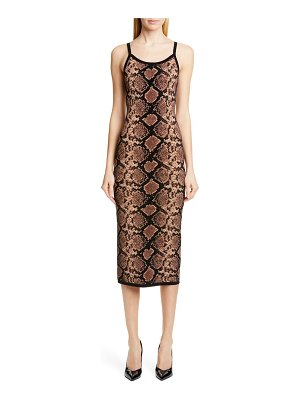 Michael Kors Collection metallic python jacquard slipdress