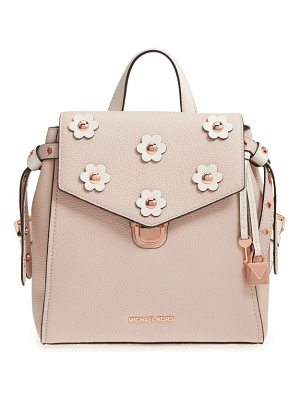 MICHAEL KORS Michael  Small Flower Embellished Leather Backpack