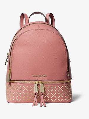 Michael Kors Rhea Medium Embellished Leather Backpack