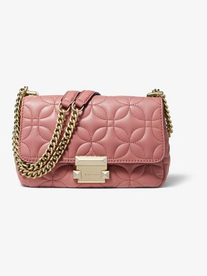 Michael Kors Sloan Small Floral Quilted Leather Shoulder Bag