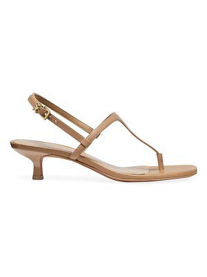 Michael Kors tasha leather slingback thong sandals