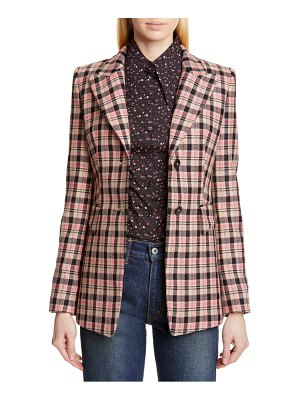 Michael Kors michael kors two-button plaid blazer
