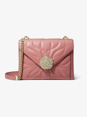 Michael Kors Whitney Large Petal Quilted Leather Convertible Shoulder Bag