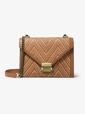 Michael Kors Whitney Large Woven Leather Convertible Shoulder Bag