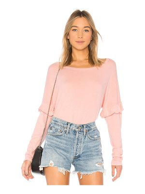MICHAEL LAUREN Irving Ruffle Top
