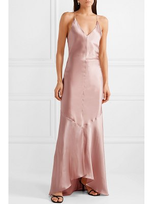 Michael Lo Sordo asymmetric silk-satin maxi dress