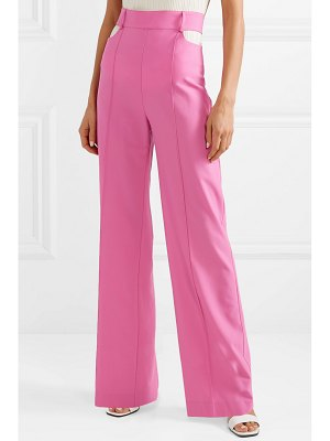 Michael Lo Sordo cutout wool wide-leg pants