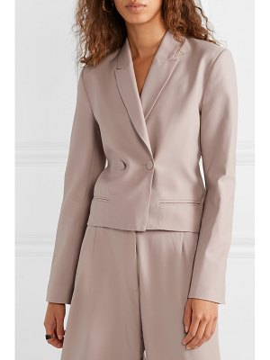 Michael Lo Sordo double-breasted wool-crepe blazer