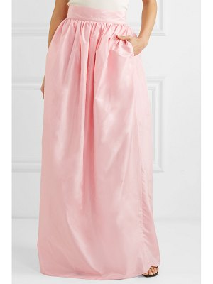 Michael Lo Sordo rose pleated silk-taffeta maxi skirt