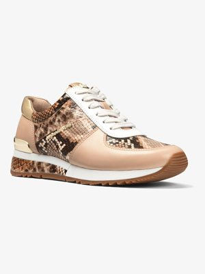 MICHAEL Michael Kors Allie Snake-Embossed Leather Sneaker