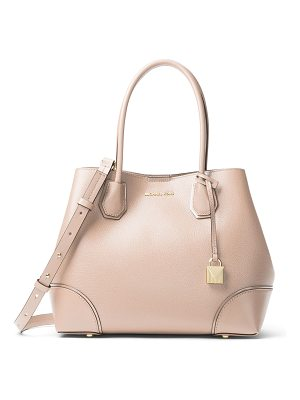 MICHAEL MICHAEL KORS Annie Medium Leather Snap-Top Tote Bag
