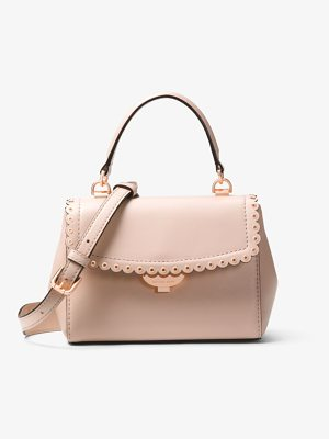 MICHAEL Michael Kors Ava Extra-Small Scalloped Leather Crossbody
