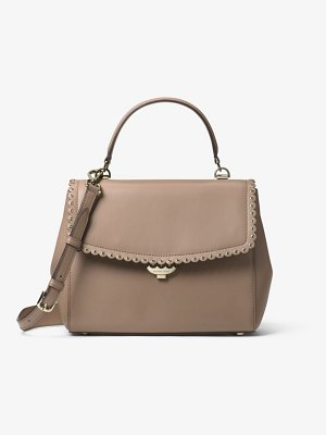 MICHAEL Michael Kors Ava Medium Scalloped Leather Satchel