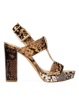 MICHAEL Michael Kors becker snakeskin-embossed leather slingback sandals