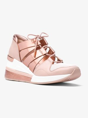 MICHAEL Michael Kors Beckett Leather And Metallic Sneaker