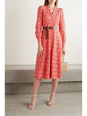 MICHAEL Michael Kors belted cotton-blend corded lace midi shirt dress