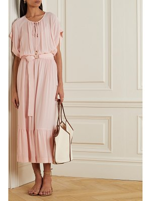 MICHAEL Michael Kors belted tiered gauze midi dress