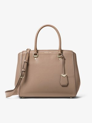MICHAEL Michael Kors Benning Large Leather Satchel