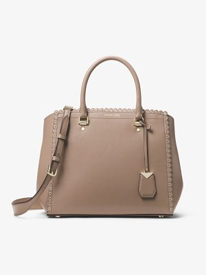 MICHAEL Michael Kors Benning Large Scalloped Leather Satchel