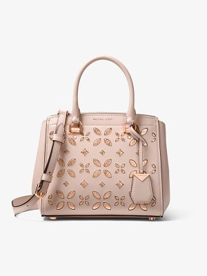 MICHAEL Michael Kors Benning Medium Perforated Leather Satchel