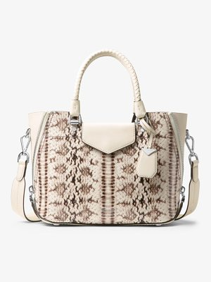 MICHAEL MICHAEL KORS Blakely Snake-Embossed Leather Satchel