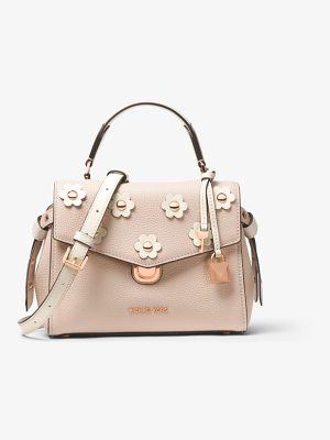 MICHAEL Michael Kors Bristol Small Floral Applique Leather Satchel