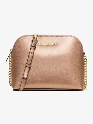 MICHAEL Michael Kors Cindy Large Metallic Leather Crossbody