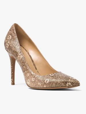 MICHAEL MICHAEL KORS Claire Lizard-Embossed Leather Pump
