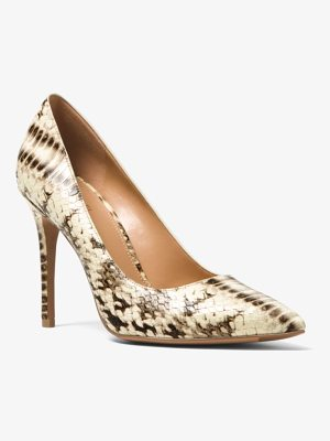 MICHAEL MICHAEL KORS Claire Embossed Leather Pump