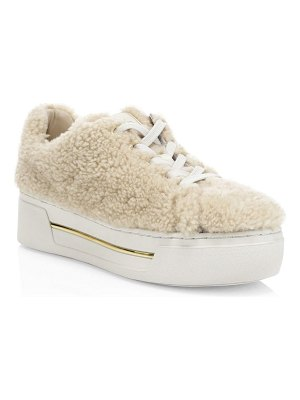 MICHAEL Michael Kors curly shearling sneakers