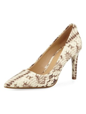 MICHAEL Michael Kors Dorothy Flex Snake-Embossed Leather Pumps