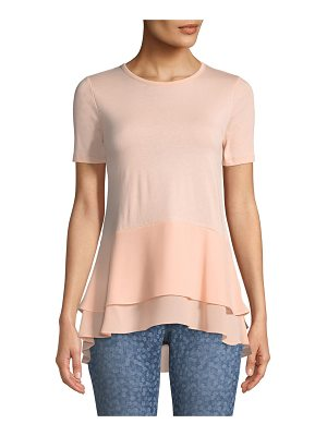 MICHAEL Michael Kors Double-Hem Short-Sleeve Top