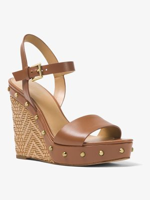 MICHAEL Michael Kors Ellen Leather Wedge