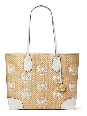 MICHAEL Michael Kors Eva Large MK Straw Tote Bag