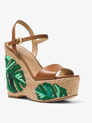 MICHAEL Michael Kors Fisher Palm Embroidered Wedge
