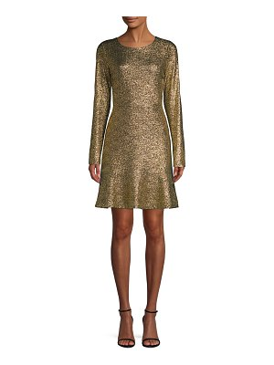 MICHAEL Michael Kors foil knit flounce dress