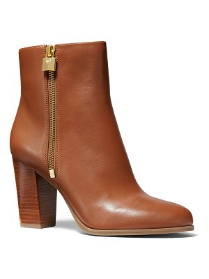 MICHAEL Michael Kors Frenchie Leather Zip Booties
