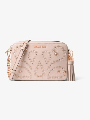 MICHAEL MICHAEL KORS Ginny Medium Embellished Leather Crossbody