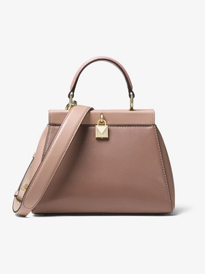 MICHAEL Michael Kors Gramercy Small Color-Block Leather Frame Satchel