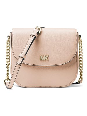 MICHAEL MICHAEL KORS Half-Dome Leather Crossbody Bag - Golden Hardware