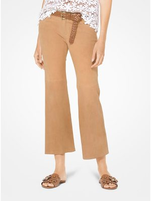 MICHAEL Michael Kors Izzy Suede Cropped Flared Pants