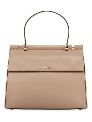 MICHAEL Michael Kors Jasmine Medium Leather Satchel Bag