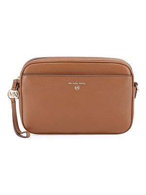 MICHAEL Michael Kors Jet Large Leather Zip Crossbody Bag