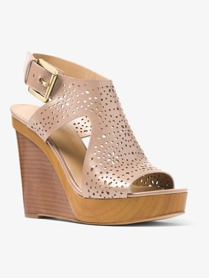 MICHAEL MICHAEL KORS Josephine Perforated Leather Wedge