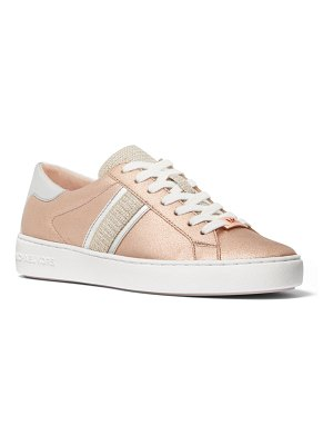 MICHAEL Michael Kors Keaton Stripe Metallic Mixed Leather Sneakers
