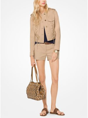 MICHAEL Michael Kors Lace-Up Cotton-Twill Jacket